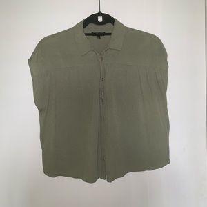 TOPSHOP Green Blouse